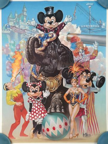1988 Disneyland Circus Fantasy Print - ID: augdisneyland19228 Disneyana
