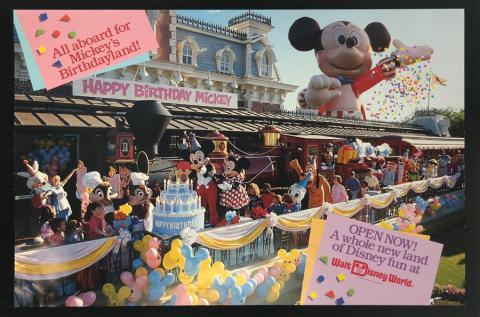 Mickey's Birthdayland Disney World Promo - ID: augdisneyworld19124 Disneyana