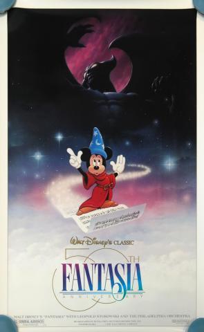 Fantasia 50th Anniversary Poster - ID: augfantasia19192 Walt Disney