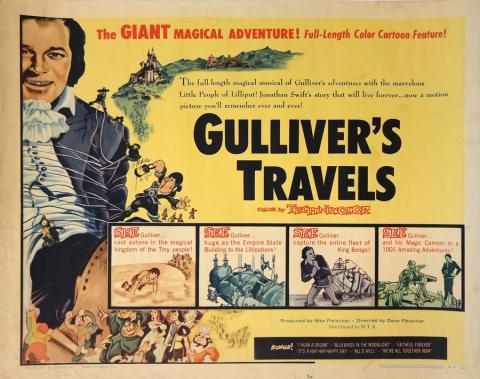 1957 Gulliver's Travels Half Sheet Poster - ID: auggulliver19205 Fleischer