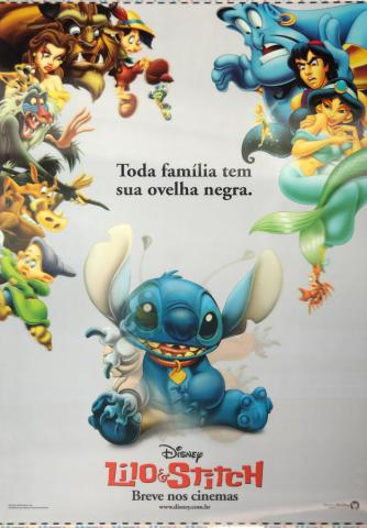 Lilo and Stitch Brazil Lenticular One Sheet Poster - ID: auglilo19175 Walt Disney
