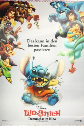 Lilo and Stitch German Lenticular One Sheet Poster - ID: auglilo19177 Walt Disney