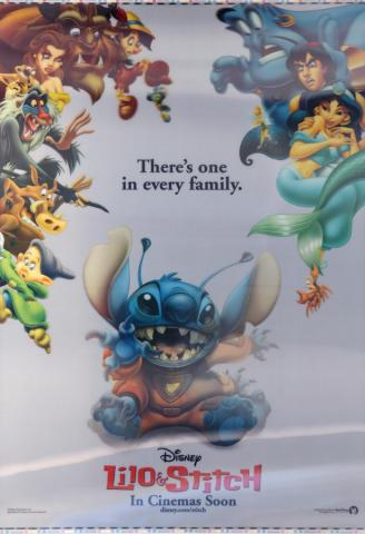 Lilo and Stitch Lenticular One Sheet Poster - ID: auglilo19179 Walt Disney