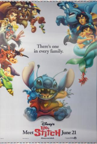 Lilo and Stitch Lenticular One Sheet Poster - ID: auglilo19180 Walt Disney