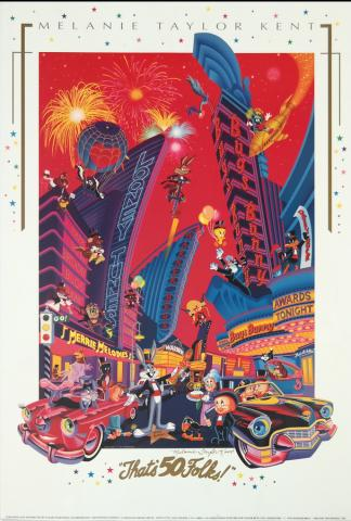 Looney Tunes 50th Anniversary Poster - ID: auglooney19050 Warner Bros.