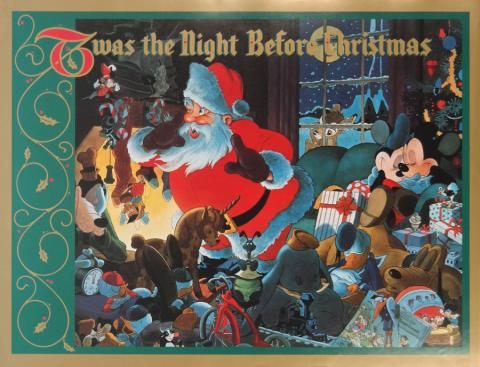 Twas the Night Before Christmas Poster - ID: augmickey19040 Walt Disney