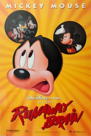 Runaway Brain One Sheet Poster - ID: augmickey19149 Walt Disney