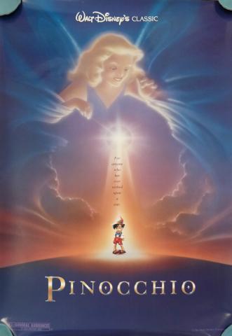 1992 Pinocchio One Sheet Poster - ID: augpinocchio19155 Walt Disney