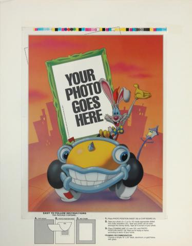 Disney Picture Frame Roger Rabbit Insert Test Print - ID: augrabbit19044 Walt Disney
