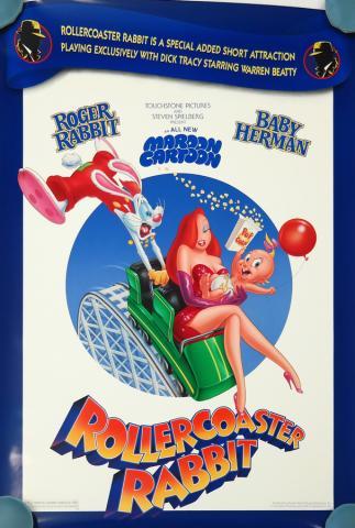 Roller Coaster Rabbit One Sheet Poster - ID: augrabbit19187 Walt Disney