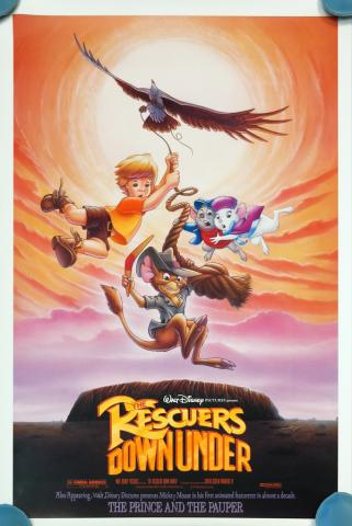 The Rescuers Down Under One Sheet Poster - ID: augrescuers19194 Walt Disney