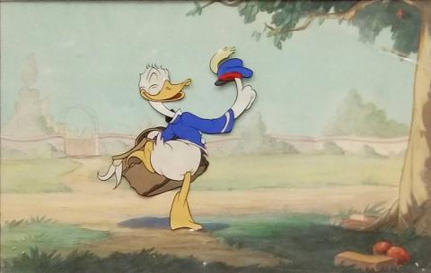 1930s Donald Duck Cel & Background - ID: jandonald19341 Walt Disney