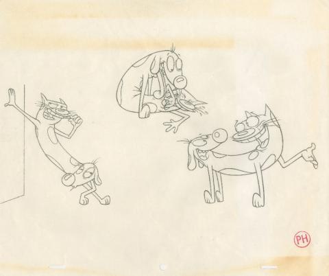 CatDog Production Drawing - ID: julycatdog19247 Nickelodeon
