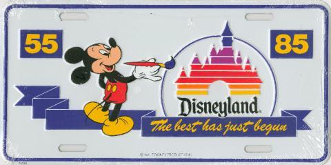 Disneyland License Plate - ID: julydisneyland19012 Disneyana