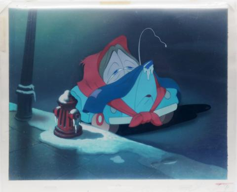 Susie the Little Blue Coupe Production Cel and Background - ID: marsusie19151 Walt Disney
