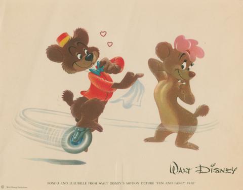 Fun and Fancy Free Promotional Fan Card - ID: maybongo19228 Disneyana