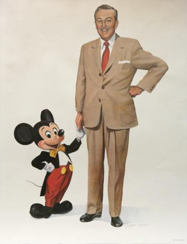Partners Charles Boyer Signed Limited Print - ID: mayboyer19200 Disneyana