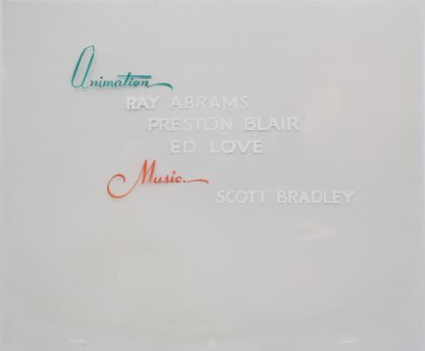 MGM Title Credit Production Cel - ID: maymgm19301 MGM
