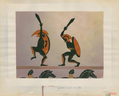 An Adventure in Art Production Cel & Background - ID: octdisney19027 Walt Disney