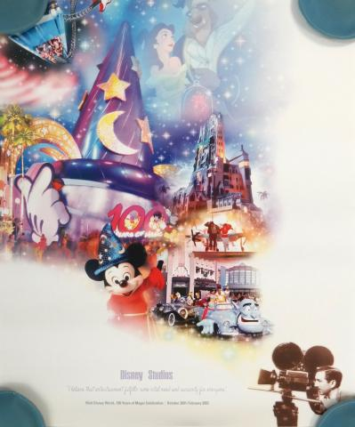 Disney Studios Disney World 100 Years of Magic Celebration Poster - ID: octdisneyana19383 Disneyana