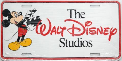 Walt Disney Studios Vanity License Plate - ID: octdisneyana19418 Disneyana