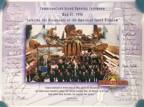 Tomorrowland Grand Opening Ceremony Poster - ID: octdisneyland19381 Disneyana
