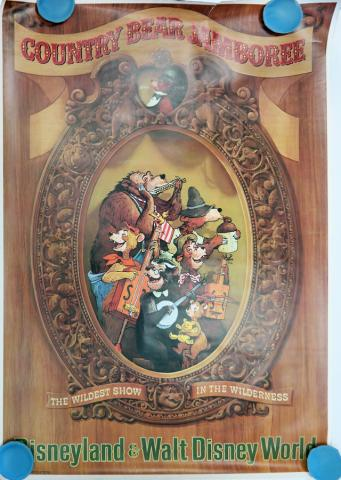 Country Bear Jamboree Disneyland Attraction Poster - ID: octdisneyland19384 Disneyana