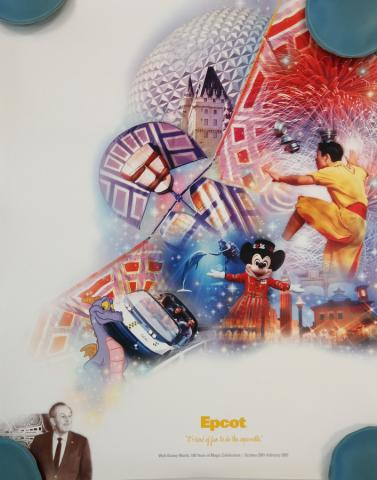 EPCOT 100 Years of Magic Celebration Poster - ID: octepcot19347 Disneyana