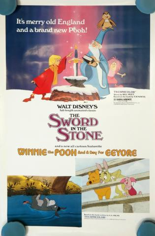 1983 Sword in the Stone Rerelease One-Sheet Poster - ID: octsword19374 Walt Disney