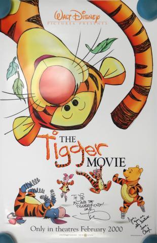 The Tigger Movie Signed One-Sheet Movie Poster - ID: octtigger19359 Walt Disney