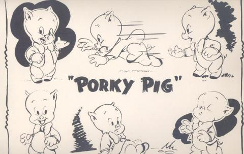 Vintage Porky Pig Model Sheet - ID: 0108pork01 Warner Bros.