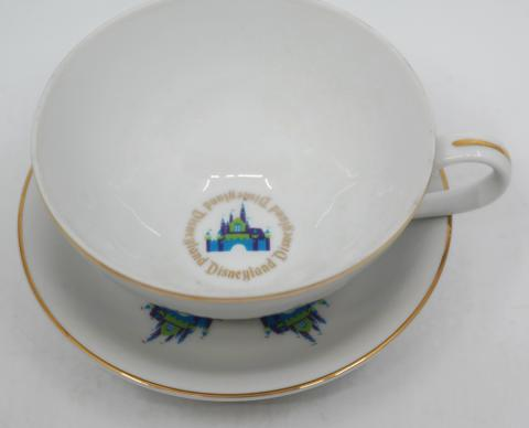 1970s Disneyland Teacup and Saucer - ID: aprdisneyland20304 Disneyana
