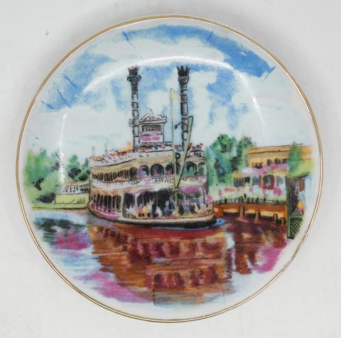 Disneyland Mark Twain Riverboat Decorative Mini Plate - ID: aprdisneyland20317 Disneyana