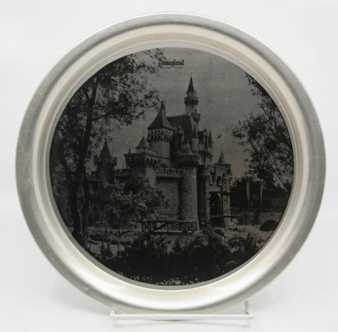 Disneyland Castle Metal Serving Tray - ID: aprdisneyland20320 Disneyana