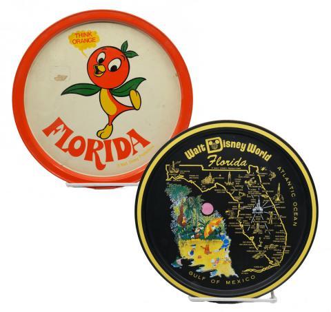Walt Disney World Souvenir Metal Serving Trays - ID: aprdisneyland20322 Disneyana