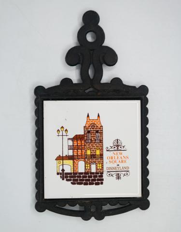 Disneyland New Orleans Square Souvenir Trivet- ID: aprdisneyland20366 Disneyana