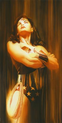 Shadows: Wonder Woman Signed Giclee on Paper Print - ID: aprrossAR0014C Alex Ross