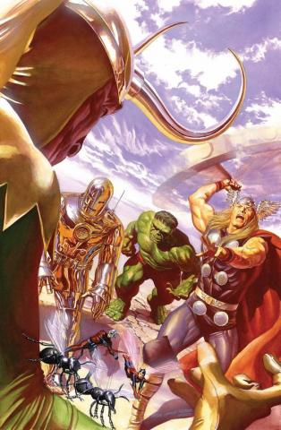 Avengers #1 Variant Cover Signed Giclee on Canvas Print - ID: aprrossAR0018C Alex Ross