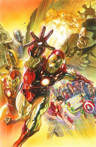Superior Iron Man Signed Giclee on Canvas Print - ID: aprrossAR0022C Alex Ross