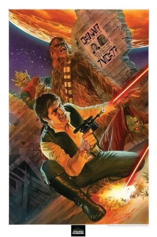 Star Wars Celebration Signed Lithograph Print - ID: aprrossAR0033P Alex Ross