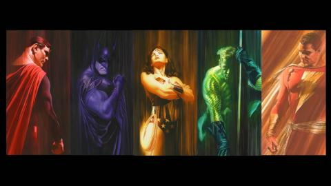 Shadows Set of 5 Signed Giclee on Paper Prints Print - ID: aprrossAR005XCSET Alex Ross