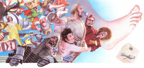 Monty Python Signed Giclee on Canvas Print - ID: aprrossAR0066C Alex Ross