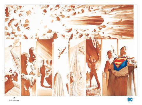Origins: Superman Lithograph Print - ID: aprrossAR0098ML Alex Ross
