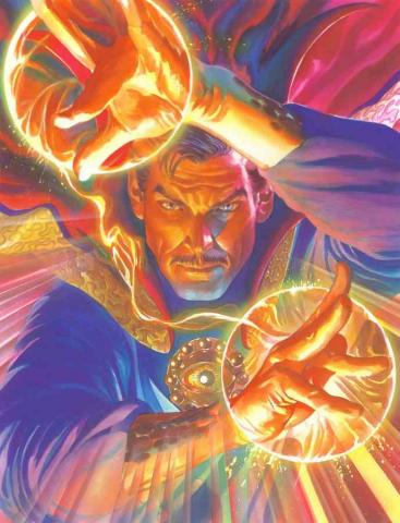 Marvelocity: Dr. Strange Signed Giclee on Canvas Print - ID: aprrossAR0141C Alex Ross