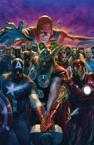 Avengers #700 Signed Lithograph Print - ID: aprrossAR0162DL Alex Ross