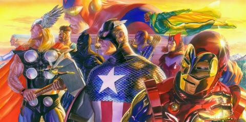Invincible Signed Oversized Deluxe Giclee on Canvas Print - ID: aprrossAR0166DC Alex Ross