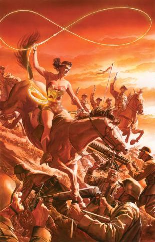 Wonder Woman Tribute Lithograph Print - ID: aprrossAR0198DL Alex Ross