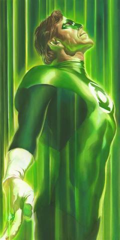 Shadows Green Lantern Signed Giclee Canvas Print - ID: aprrossAR0222C Alex Ross