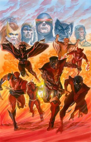 X-Men Tribute Signed Litho Print - ID: aprrossAR0225DL Alex Ross