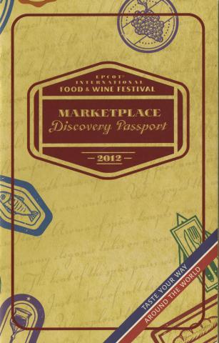 EPCOT International Marketplace Discovery Passport - ID: augdismenu20005 Disneyana